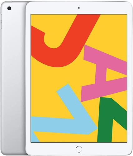 iPad (第7世代) 10.2インチ 128GB シルバー au SIMロック解除済 (MW6F2J/A)