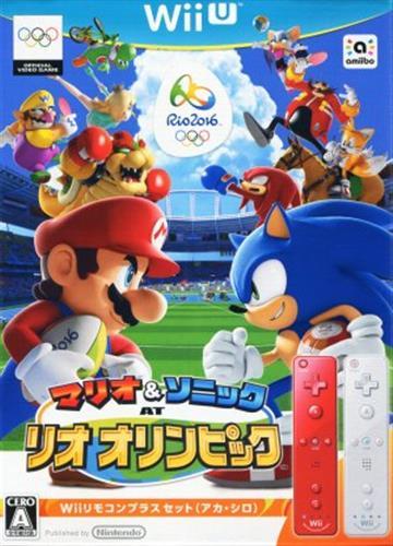 マリオ&ソニック AT リオオリンピック Wiiリモコンプラスセット(アカ・シロ) 【Wii U】